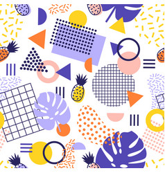 Abstract seamless pattern with lines geometric vector