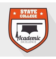 Academic education design vector