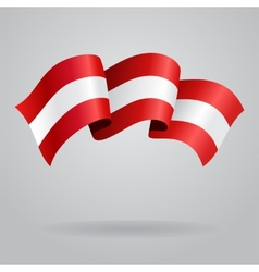 Austrian waving Flag vector image