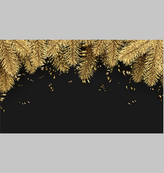 Background with spruce branches and serpentine vector