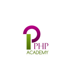 badge for php academy vector image