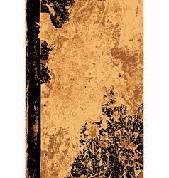 Battered old book cover vector