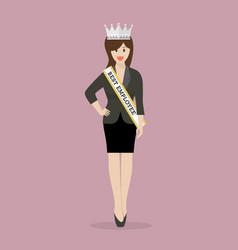 best employee woman vector image