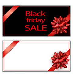 black friday sale card template vector image