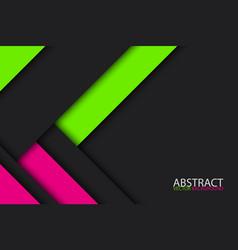 black green nad pink modern material design vector image