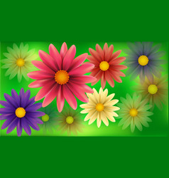 Blur flowers abstract background vector image