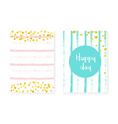 bridal shower set with dots and sequins wedding vector image