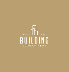 building logo template clean modern and elegant vector image
