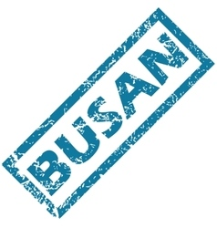 Busan rubber stamp vector image