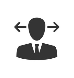 Business decision making icon vector