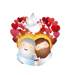 Catholic love design vector