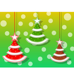 Christmas holidays three icons vector image