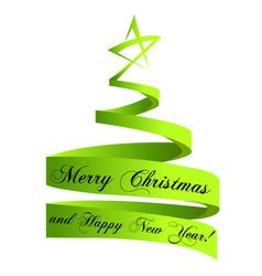 christmas tree swirly style logo vector image