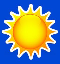 clip art of sun on blue vector image