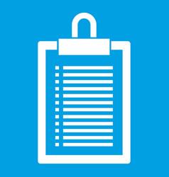Document plan icon white vector