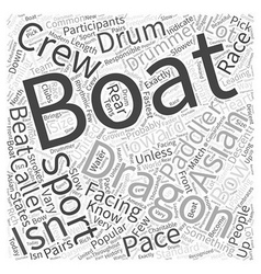 Dragon Boating Word Cloud Concept vector