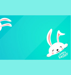 Easter bunny hide at the corner cute funny rabbit vector