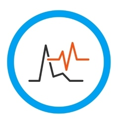 Ecg Rounded Icon vector