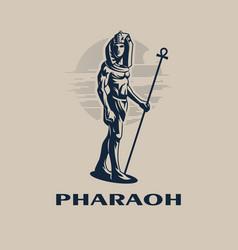 Egyptian ruler pharaoh vector