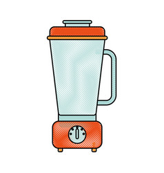 Electric blender kitchen vector