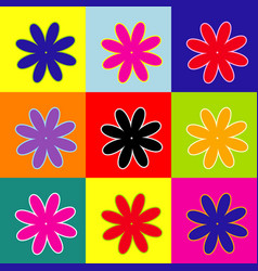Flower sign pop-art style vector