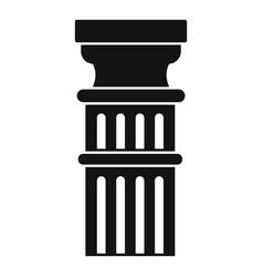 greek pillar icon simple style vector image