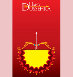 Happy dussehra festival poster or banner design vector