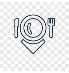 hot dish concept linear icon isolated on vector image