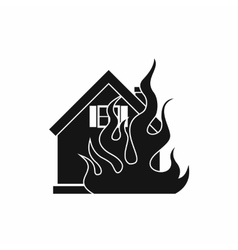 House on fire icon simple style vector