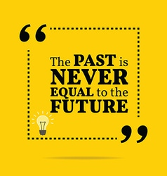 Inspirational motivational quote The past is never vector