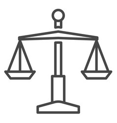 judge balance icon outline style vector image