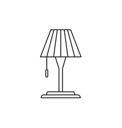 lamp table icon vector image