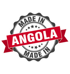 Made in angola round seal vector