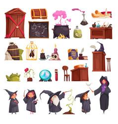 magic school interior set vector image