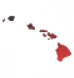 map of hawaii vector image