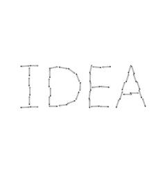 Modern idea word background Eps 10 vector