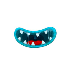 Monster mouth smile disgusting jaws vector