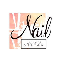 Nail logo design design element for nail bar vector