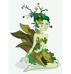 Nature fairy vector