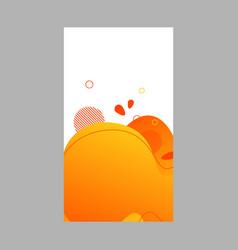 orange dynamic abstract fluid social media vector image