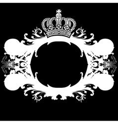 ornate heraldic deco vector image vector image