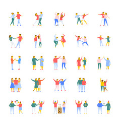 People flat icons set vector