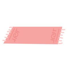Pink rug vector