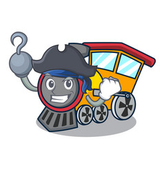 Pirate train character cartoon style vector