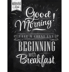 Poster Good Morning chalk vector