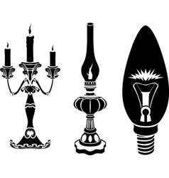 Progress of lighting devices vector image
