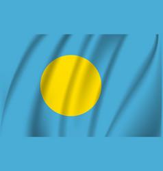 realistic waving flag palau waving flag vector image