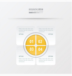 Rectangle presentation design yellow color vector