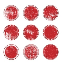 Red Grunge Stamp Set vector image