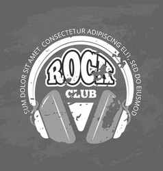 Retro rock music club shop logo vector